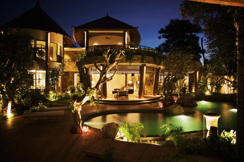 EXTERIOR AT NIGHT - Villa Upama - a Design Icon - Sanur - rentals