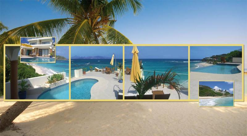 marvelous panoromic view to ocean coral reef best snorkeling beach st. maarten villa caribe vacation - A Caribbean Paradise - Beachfront Villa@Dawn Beach - Dawn Beach - rentals