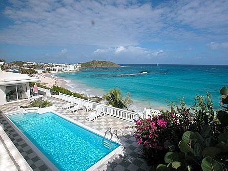 big private swimming pool with the best ocean view, Dawn Beach, Sint Maarten - Beachvilla@Dawn Beach - Oceanview one in a Million - Dawn Beach - rentals