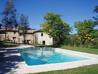 The large private pool and beautiful gardens - Casa Val d'Aso - Stone Farmhouse with pool - Force - rentals