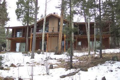 Back of the house, over looks mountains - Beautiful 5 bd/ 4 ba rental in Angel Fire - Angel Fire - rentals