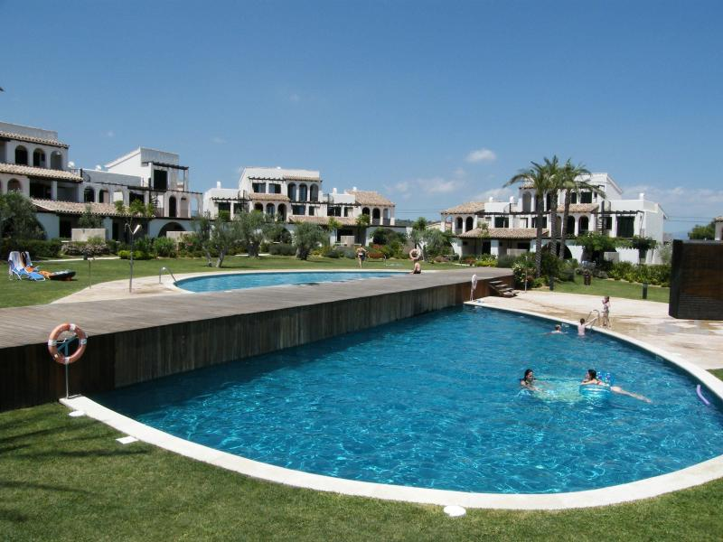 Pools in the gardens of Les Oliveres - Fantastic beachside family home - L'Ampolla - rentals