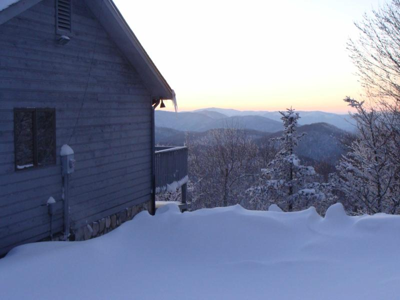 Winter View - Beautiful Mountaintop Home in Wolf Laurel - Mars Hill - rentals