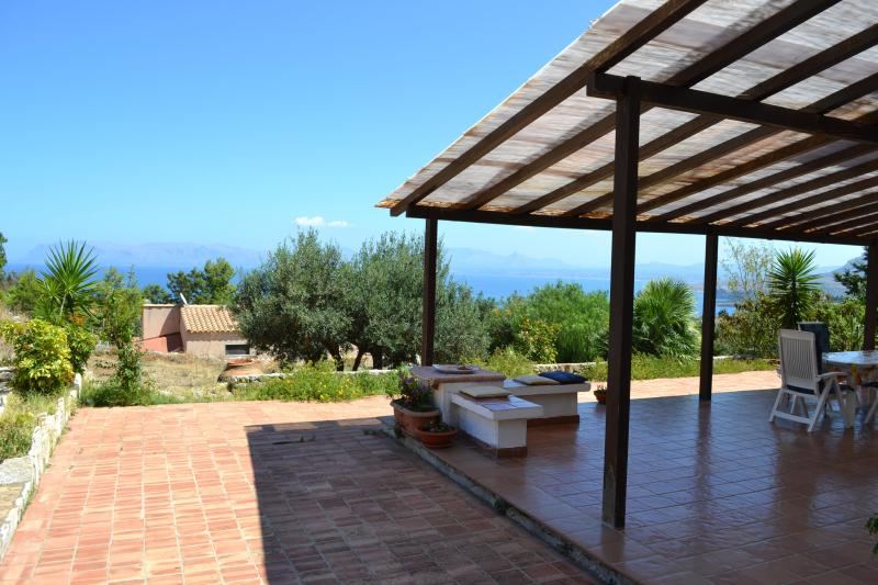 Amazing View from the villa SunSea, ---- This pic was taken in July 2011 - 4Bedrooms Sea views,Privacy,Relax,Internet,Parking - Scopello - rentals