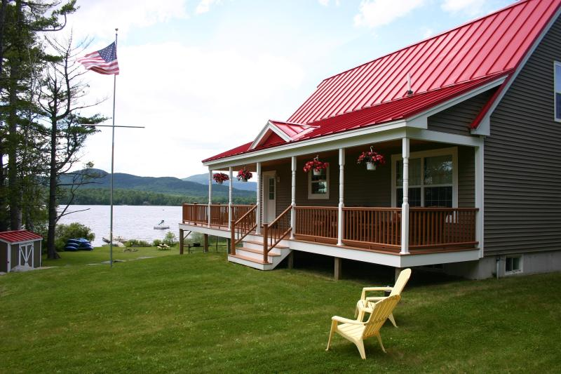 The Chalet in Summer, steps away from the lake - Moosehead Lake Waterfront Chalet w/ Permanent Dock - Greenville - rentals