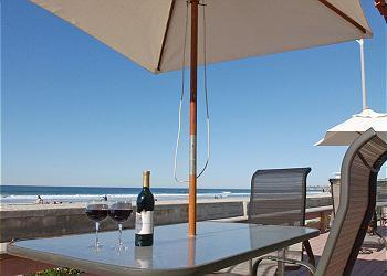 Beach and Ocean View - The Hacienda Ocean Front Vacation Rental - Mission Beach - rentals
