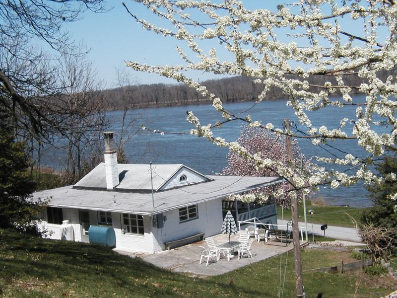 Peering over Bob-a-Lu from the Orchard - Bob-a-Lu - What a View! - Waterfront w/Boat Ramp - Hellam - rentals