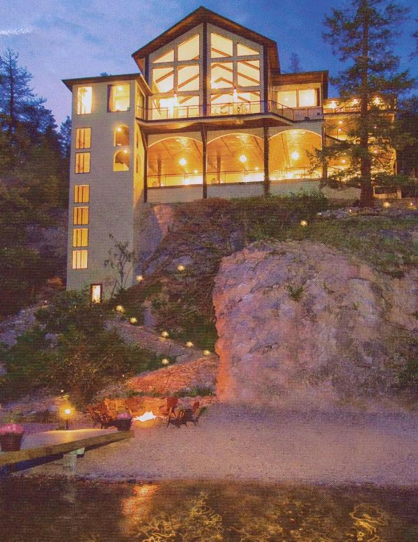 View of home from dock - Breathtaking 4 BDRM  Mansion on Lake Okanagan - Lake Country - rentals