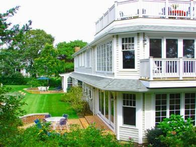 Rear of house with roof deck - Stage Harbor/Mill Pond/Crocker Rise/Water View - Chatham - rentals