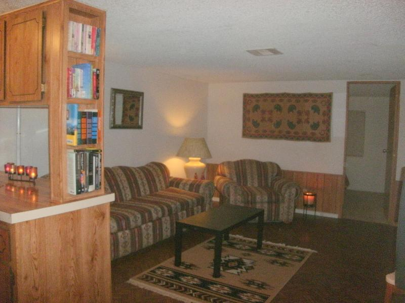 Partial view of comfortable living room - Retreat on Private 3 Acres w/Hot Tub and Mtn Views - Tucson - rentals