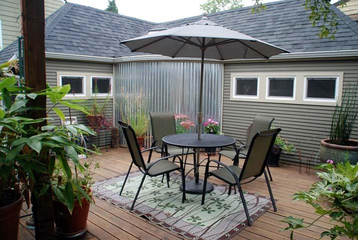 front of cottage with large deck - Asian Inspired Studio Cottage - Portland - rentals