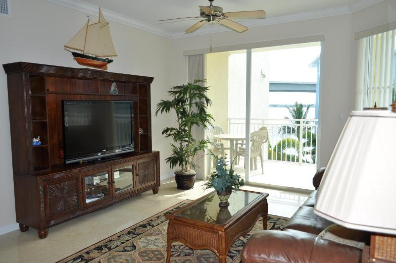 Living room with view of the St. Lucie River - Stuart, FL Luxury Waterfront Condo Vacation Rental - Stuart - rentals