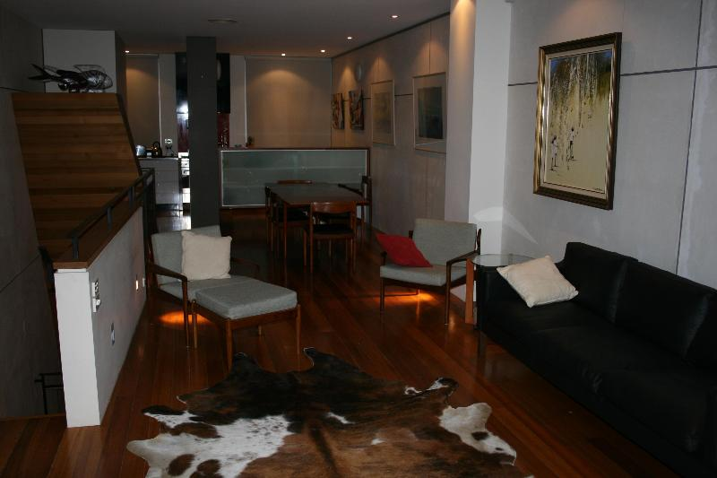 Top Level Living/Kitchen - Stylish Inner City Warehouse Conversion Apartment - Melbourne - rentals