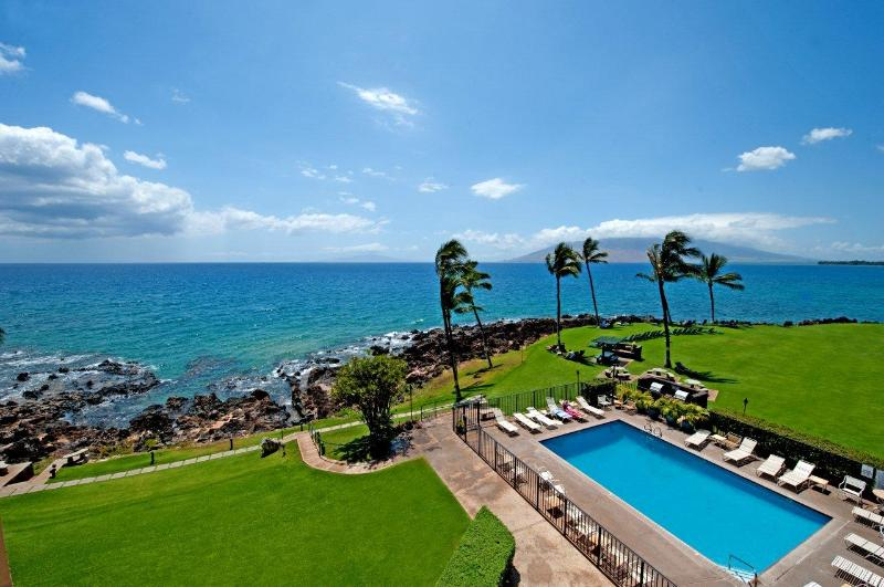 This is the view from your lanai of your oceanfront Kihei Surfside condo! - Stunning View, Renovated, Locally Owned & Managed! - Kihei - rentals