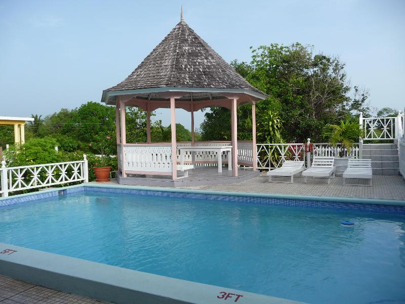 Private Pool and gazebo with wet bar. - Braata Villa - Duncans - rentals