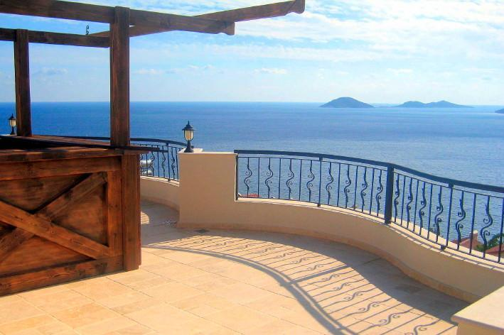 Roof Terrace & Views - Sea View, Exclusive Kalamar Bay, Garden Apartment - Kalkan - rentals