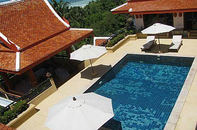 Ocean view villa pool - Ban Bang Makham Ocean View Luxury Pool Villa - Chaweng - rentals