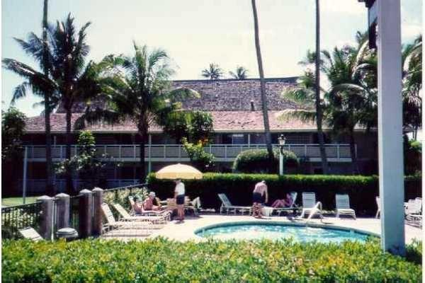 Balcony has partial view of the ocean and over looks one of 3 pools - Kauai Condo $500 Wk on the Coconut Coast - Kauai - rentals
