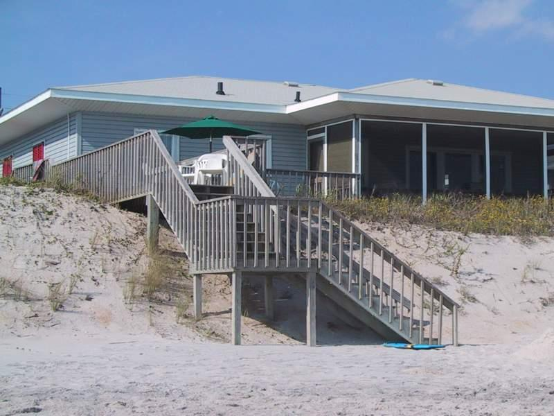 'A Beach Escape' cottage. Directly on Topsail's Best Beach - Vacation Rental, OCEANFRONT, SCREEN PORCH/SHOWER - Topsail Beach - rentals