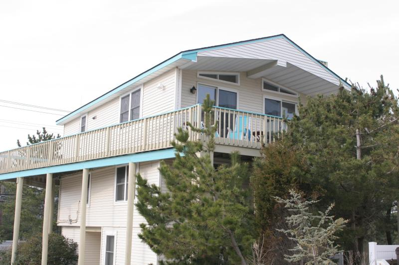 Outsive view of the house - Beach House just steps from the private beach - Long Beach Island - rentals