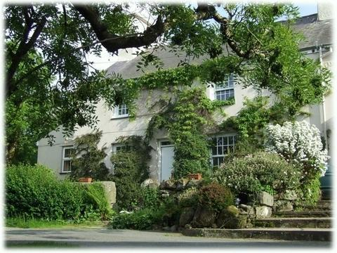 Front of Ynys Pandy Farmhouse in Summer - Ynys Pandy Pet and Family Friendly Farmhouse - Garndolbenmaen - rentals
