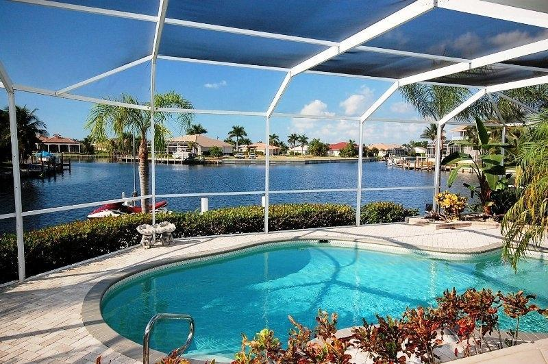 Beautifully Designed Pool Over Looking The Water - 2,000 Sq.Ft Lanai (600' Covered) Wide Water Views - Marco Island - rentals