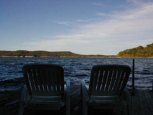 View from the Dock - Cedar House on Moonlight Bay, Rogers, Arkansas - Rogers - rentals