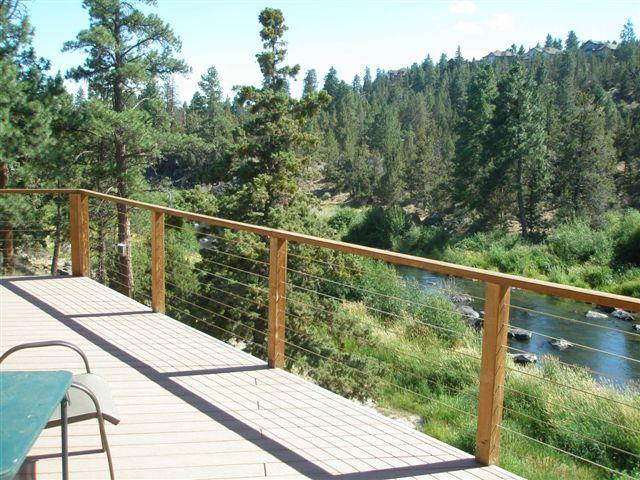 Top Deck View of the River - Right on the River!  Luxury Home! - Bend - rentals