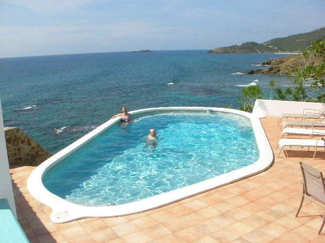 Private pool & patio with view of St. Barths, Kitts - St. Maarten Villa Sea Watch - Saint Martin-Sint Maarten - rentals