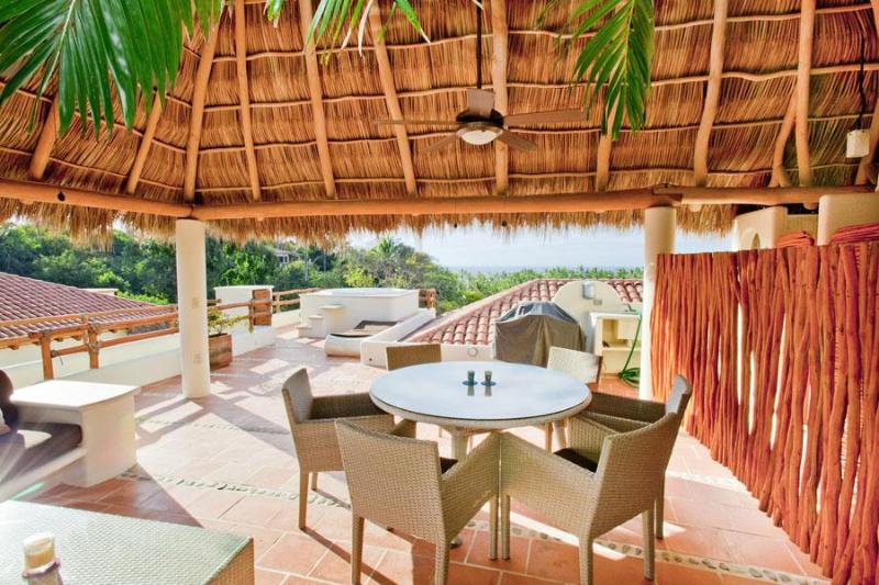 Rooftop terrace - 3 BR penthouse, ocean view,  very near beach/town - Sayulita - rentals