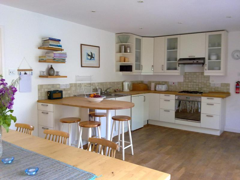 kitchen area - Holiday home sleeps 8/10 on North Cornish coast - Padstow - rentals