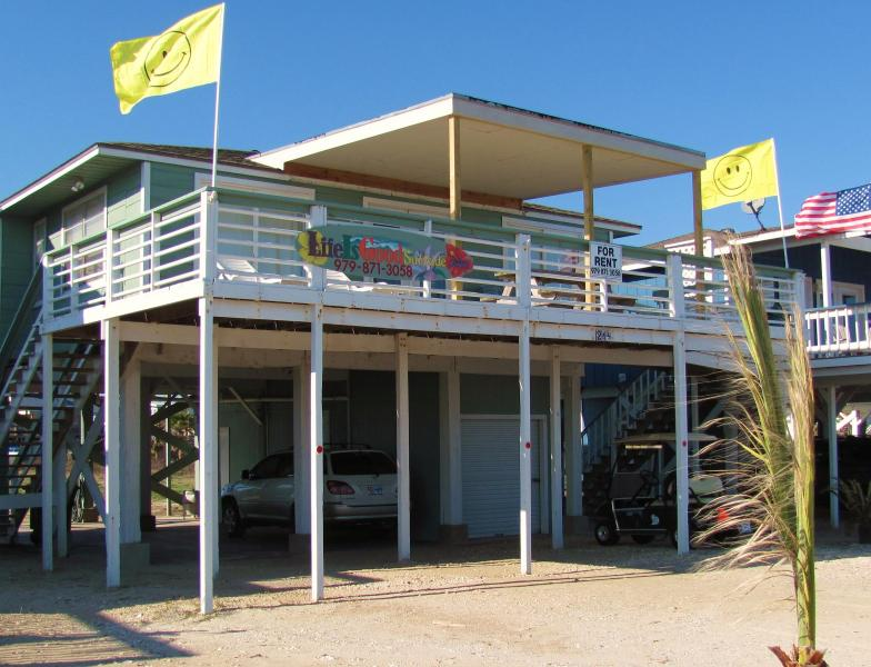 """Front View of Life Is Good - """"Life Is Good"""" Book for Spring Break Now! - Surfside Beach - rentals"""