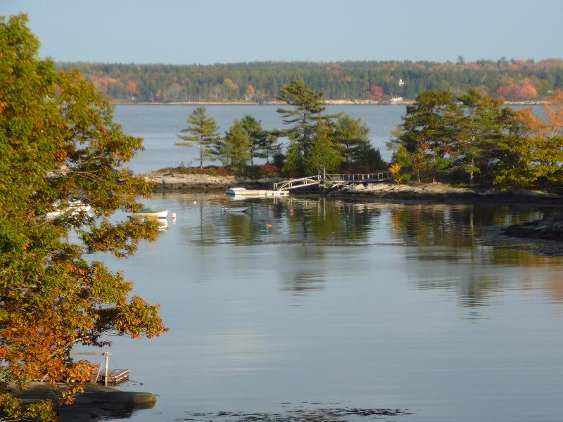 view from the deck - Peaceful Waterfront Cottage-5BR/3BA  5 Islands, ME - Georgetown - rentals