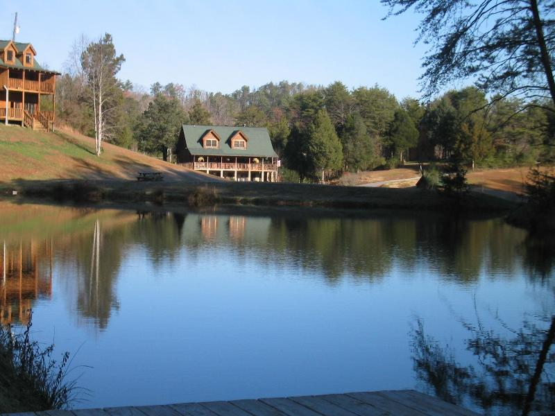 Fishing pond just steps away from cabin - Amazing Seclusion - Onsite Fishing, Golf, Swimming - Pigeon Forge - rentals