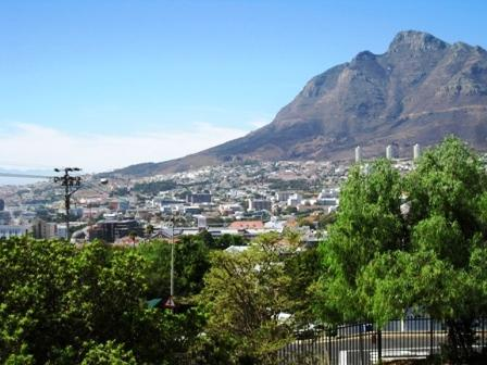 View of city through to mountain from balcony. Enjoy the gorgeous sunrise - Cape Alexander - Best of the Cape Collection - Cape Town - rentals