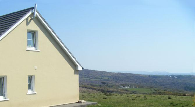 Gable end of house looking east towards Baltimore - Harbour View Cottage - Schull - rentals