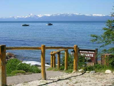Lake Tahoe is right out your back door - Brockway Shores Lake Tahoe Lakefront Condo - Pier - Kings Beach - rentals