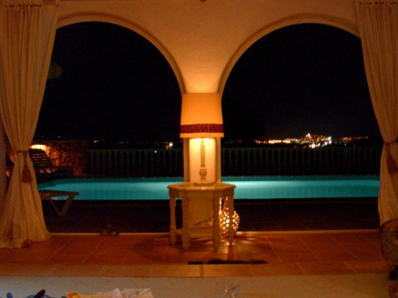 View from salon over Ibiza Town at night - IBIZA! lovely villa  with pool  (No children!) - Ibiza - rentals