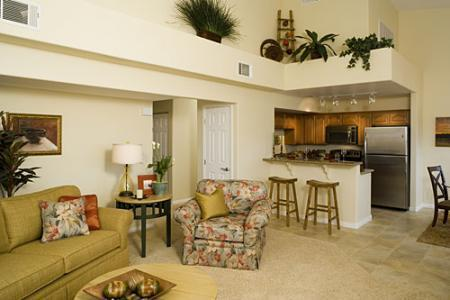 Living Room/Kitchen - NEW Luxury 3-Bedroom Golf and Sun Vaction Condo - Mesquite - rentals