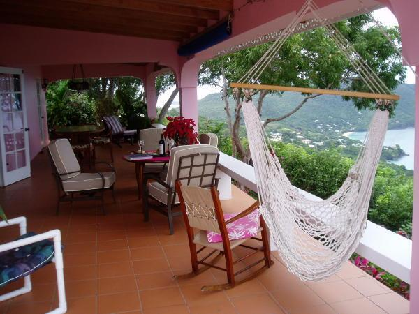 view along veranda - Pleasant Top on Bequia St Vincent & the Grenadines - Port Elizabeth - rentals