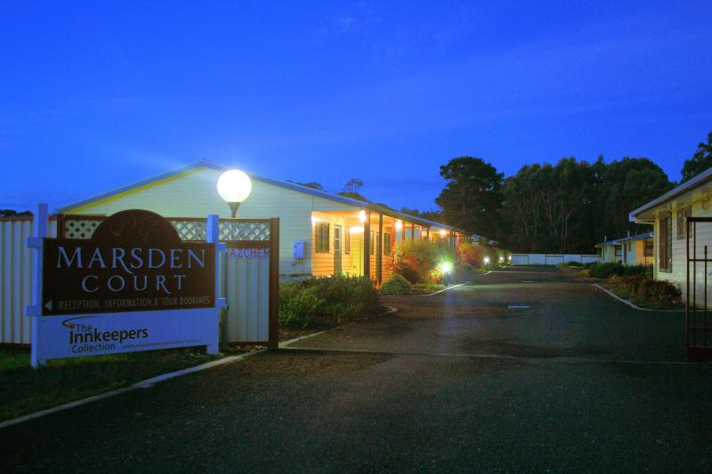 Night image of Marsden Court - Studio and 2 bedroom apartments located in Strahan - Strahan - rentals