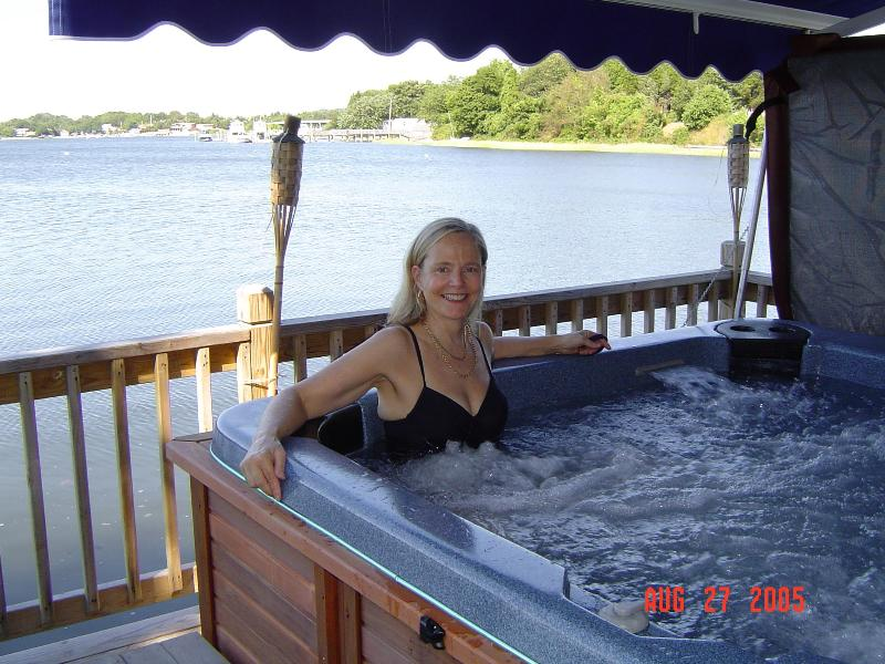 Friend in hot-tub - Waterfront Delight - Portsmouth - rentals