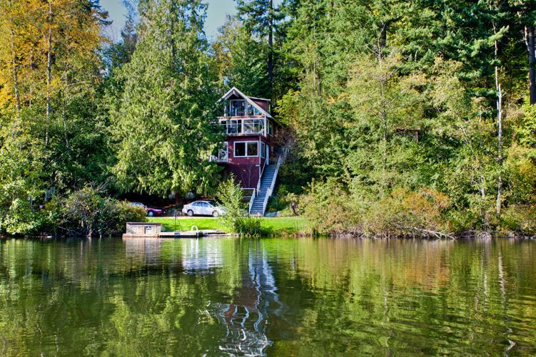 View of Chalet from Across the Lake - Emerald Lake Chalet - Bellingham - rentals
