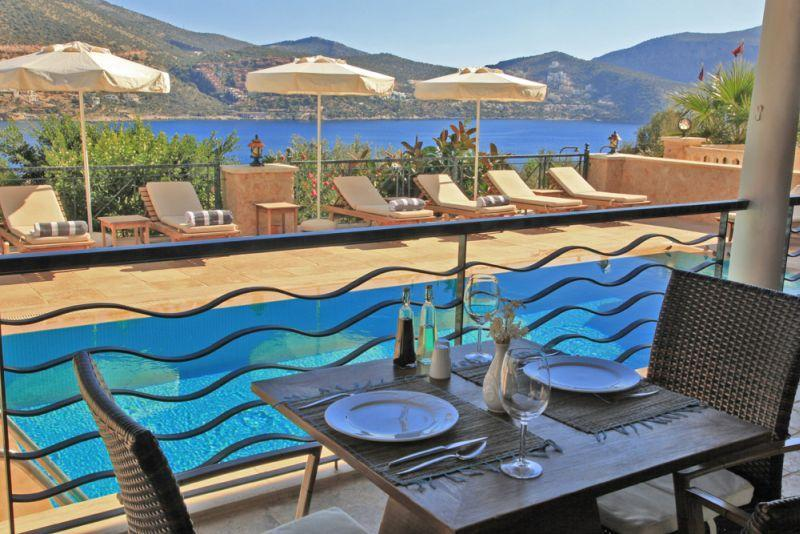 Pool and sun terrace - Villa Serra, Kalkan, Turkey - Kalkan - rentals