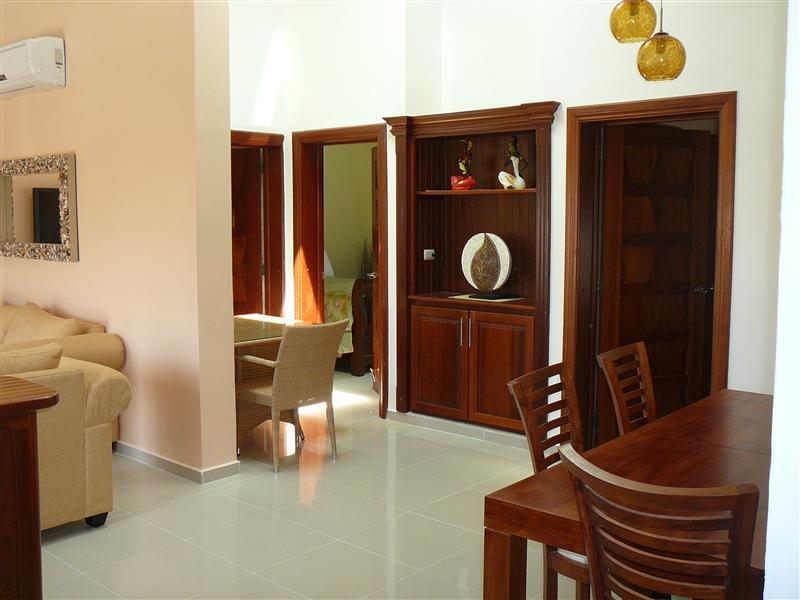Living & Dining Room - Luxury Penthouse by the Beach, Incl. Beach Shuttle - Punta Cana - rentals