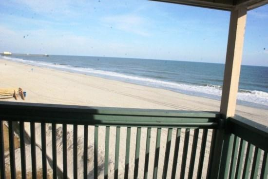 View from Porch-North - Direct Ocean Front Condo - Views from 3 windows - - Myrtle Beach - rentals