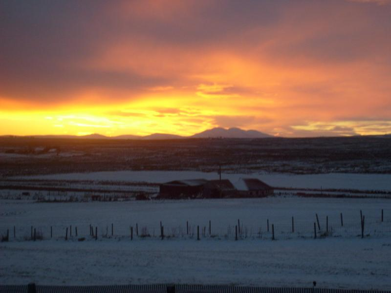 Winter sunset from Guest Lounge - Sunrise Cottage Bed & Breakfast - Lybster - rentals