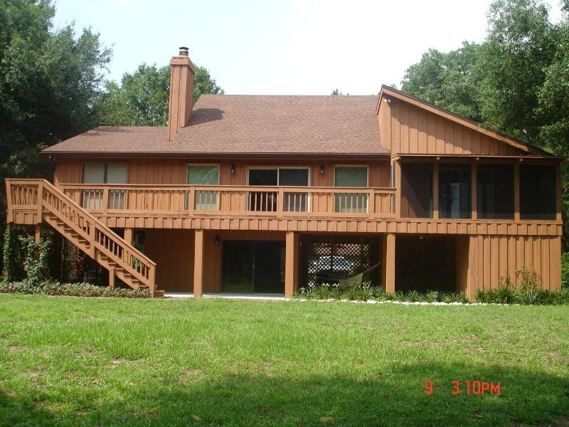 Rear view from yard - Secluded Lake House, Close to all. - Land O Lakes - rentals