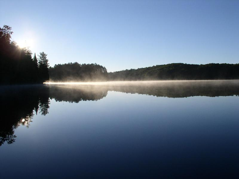 Misty Morning on Crooked Lake - Wilderness Lakes; Old-Growth Forest; A Cozy Cabin - Watersmeet - rentals