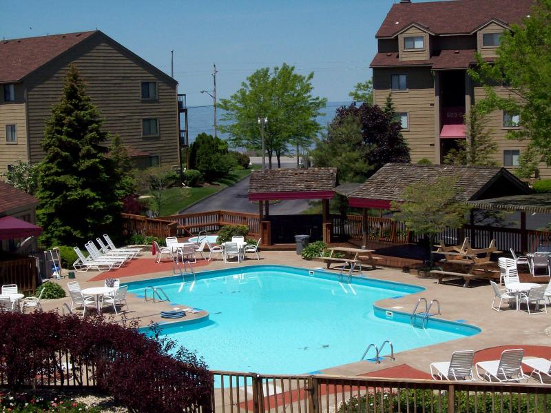 Pool Area - Port Clinton Oh Condo Sleeps 4 $1,100 wk 30ft Boat - Port Clinton - rentals